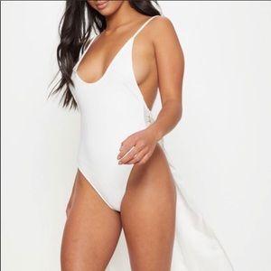 White Bridal Bathing Suite bachelorette